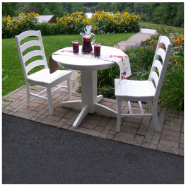 A&L Furniture 33 in Round Ladderback Dining Set