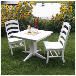 A&L Furniture 33 in Square Ladderback Dining Set