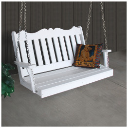 A&L Furniture 4 ft Poly Royal English Swing (Chains Included)