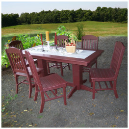 A&L Furniture 7-Piece Dining Set