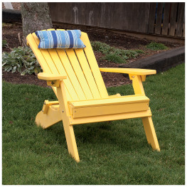 A&L Furniture Poly Folding/Reclining Adirondack Chair