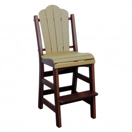 Amish Poly Bar Height Daisy Side Chair