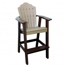 Amish Poly Bar Height Snuggle Back Chair