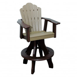 Amish Poly Bar Height Snuggle Back Swivel Chair