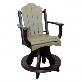 Amish Poly Counter Height Daisy Arm Swivel Chair