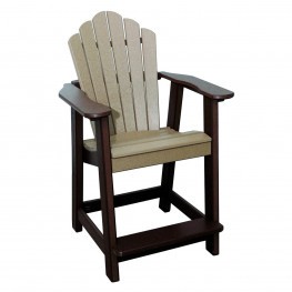 Amish Poly Counter Height Snuggle Back Chair