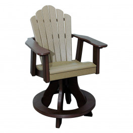 Amish Poly Counter Height Snuggle Back Swivel Chair