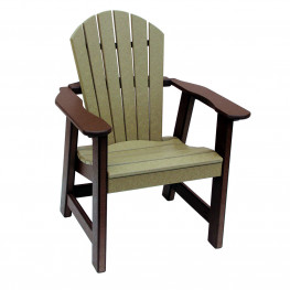 Amish Poly Dining Height Comfy Back Chair