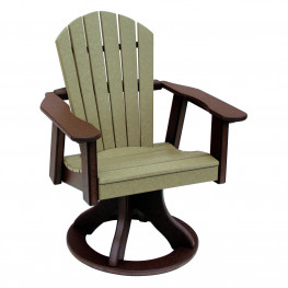 Amish Poly Dining Height Comfy Back Swivel Chair