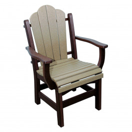Amish Poly Dining Height Daisy Arm Chair