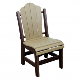 Amish Poly Dining Height Daisy Side Chair
