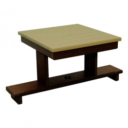 Amish Poly Gliding Settee Table