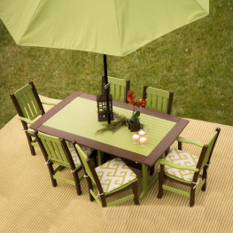 Finch Amish Poly Keystone 7pc Outdoor Dining Set