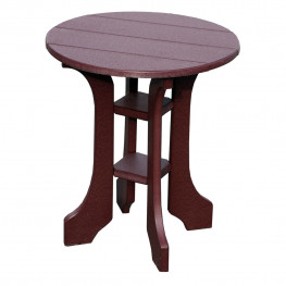 "Amish Poly Wood 20"" Round End Table"