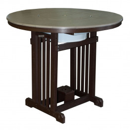 """Amish Poly 48"""" Round Pub Table w/Party Bowl"""