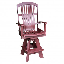 Amish Poly Wood Classic Barstool - Swivel