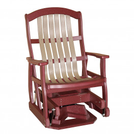 Amish Poly Wood Classic Cottage Swivel Glider