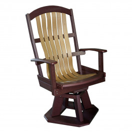 Amish Poly Wood Classic Swivel Chair