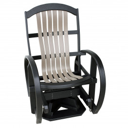 Amish Poly Wood Classic Swivel Glider
