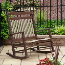 Amish Zinn's Mill Poly Loveseat Rocker