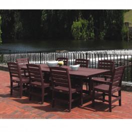 Malibu Outdoor Beaumont 9pc Family Dining Set