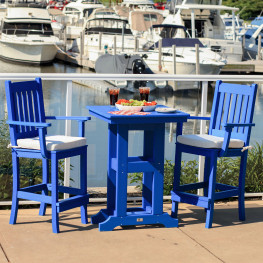 Poly Lumber Polywood Outdoor Bar Height Sets