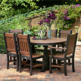 Berlin Gardens Oblong Mission Dining Set