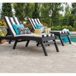 Casual Comfort Poly Lumber Bayshore 3pc Chaise Lounge Set