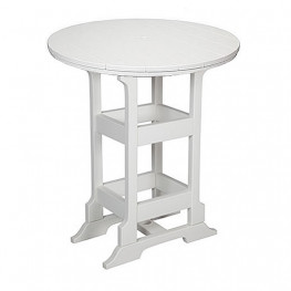 Casual Comfort Poly Lumber 36in Oceanside Bar Table - Round