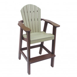 Amish Poly Bar Height Comfy Back Chair