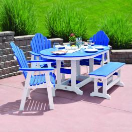 Berlin Gardens Cozi-Back Dining Set