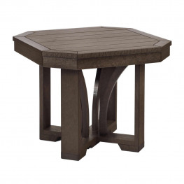CR Plastics St Tropez 25in Square End Table