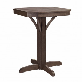 CR Plastics St Tropez 28in Square Counter Pedestal Table