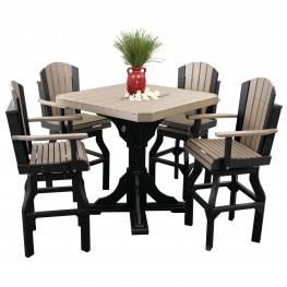 Luxcraft / Crestville® Adirondack Bar Swivel Dining Set