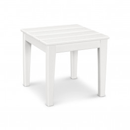 POLYWOOD® Newport 18in End Table in White