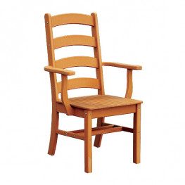 Ladderback Poly Dining Arm Chair