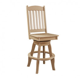 Sunnyside Poly Swivel Patio Side Chair