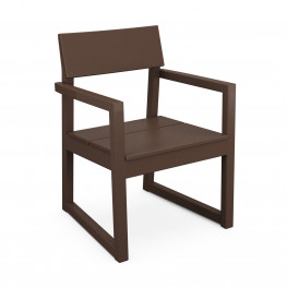 POLYWOOD® EDGE Dining Arm Chair in black