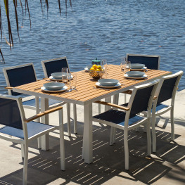 POLYWOOD Euro 36in x 72in Dining Table with Plastique