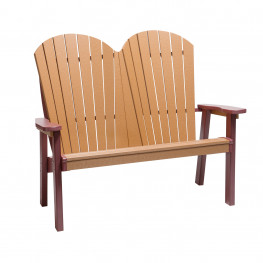 Finch Amish Poly SeaAira Adirondack Bench