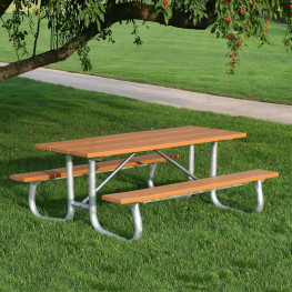Galvanized Frame Picnic Table 6'