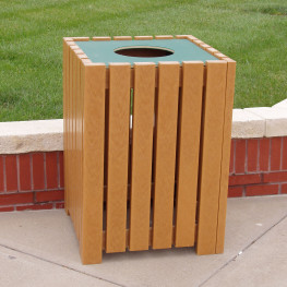 Heavy Duty Square Receptacle - 32 gal