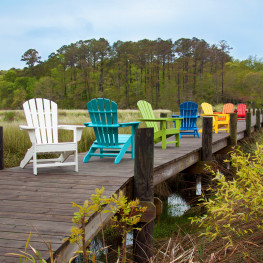 POLYWOOD Palm Coast Adirondack Chair