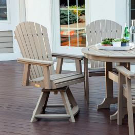 Malibu Outdoor Hyannis Dining Swivel/Rocker Chair