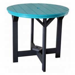 Indiana Amish Poly 42in Round Brookstone Balcony Table