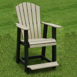 Indiana Amish Poly ComfoWave Bar Chair