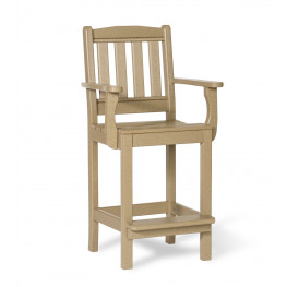 Amish Poly Wood English Garden Counter Height Arm Chair