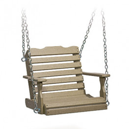 Amish Poly Wood Childs Swing