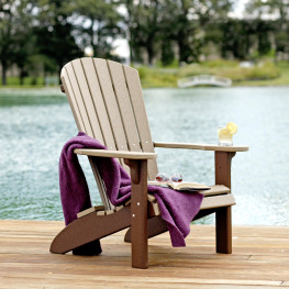 Amish Poly Fan-Back Adirondack Chair