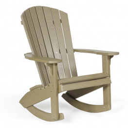 Amish Poly Wood Fan-Back Adirondack Rocker